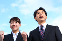 Blue sky. Young businessman and OL Stock photo [3880626] Business