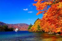 Of autumn leaves Lake Towada Stock photo [3882692] Towada