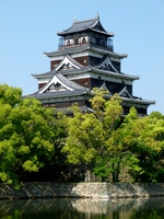 Hiroshima Castle castle tower Stock photo [3885899] Hiroshima