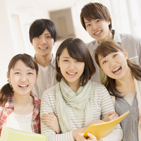 The smile college students Stock photo [3973805] College