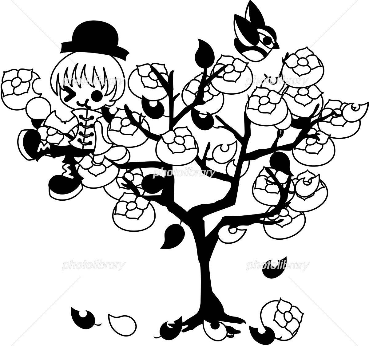 リンゴの木 白黒 イラスト Szo0355 Fotosearch