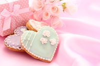 Heart of icing cookies Stock photo [4127761] cookie