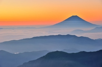World Heritage sacred Mount Fuji of the morning glow Stock photo [4127902] Fuji