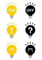Light bulb illustrations power-saving Eco [4127979] light