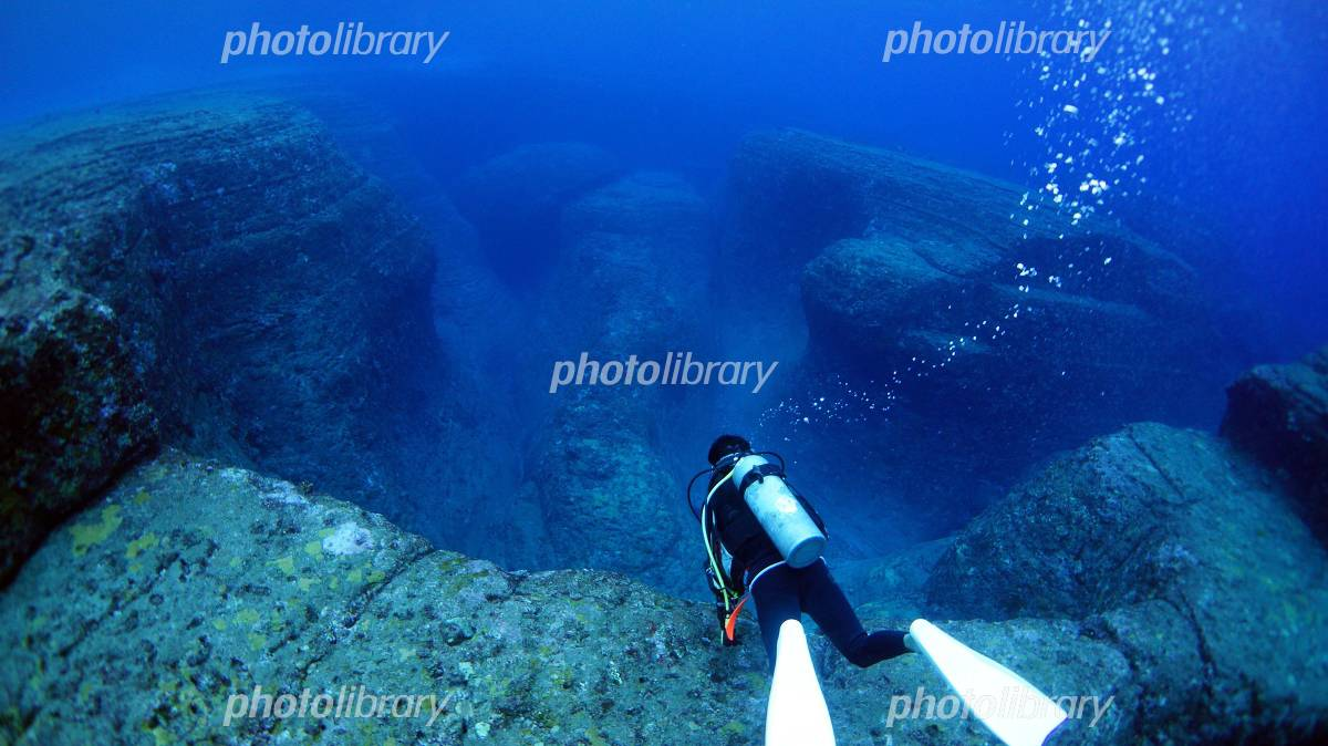 Yonaguni Island underwater ruins Photo