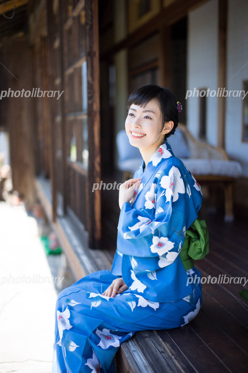 Woman wearing a yukata Photo