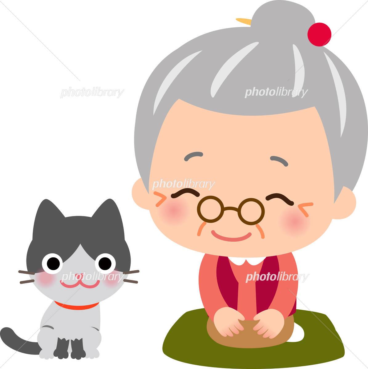 レトロなおばあちゃんのキャラクター イラスト素材 フォトライブラリー Photolibrary