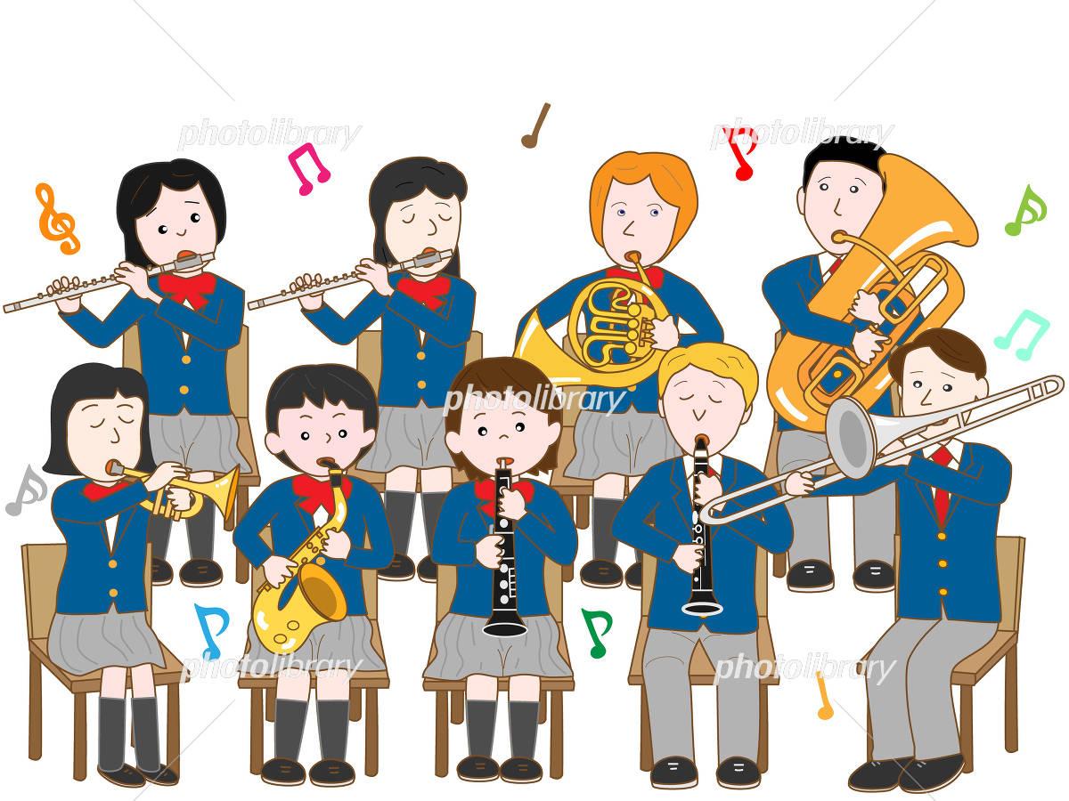 高校生の吹奏楽 イラスト素材 4222404 フォトライブラリー