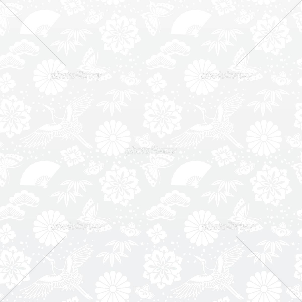 青海波 白の和風背景 伝統柄 イラスト素材 6047942 フォトライブ