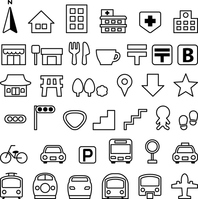 Map, map icon (outline) [4220167] map