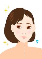 Female thinning hair illustrations [4220853] Female