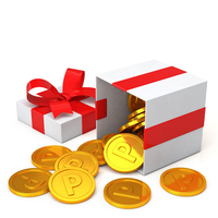 Point coins and gift box [4228473] point