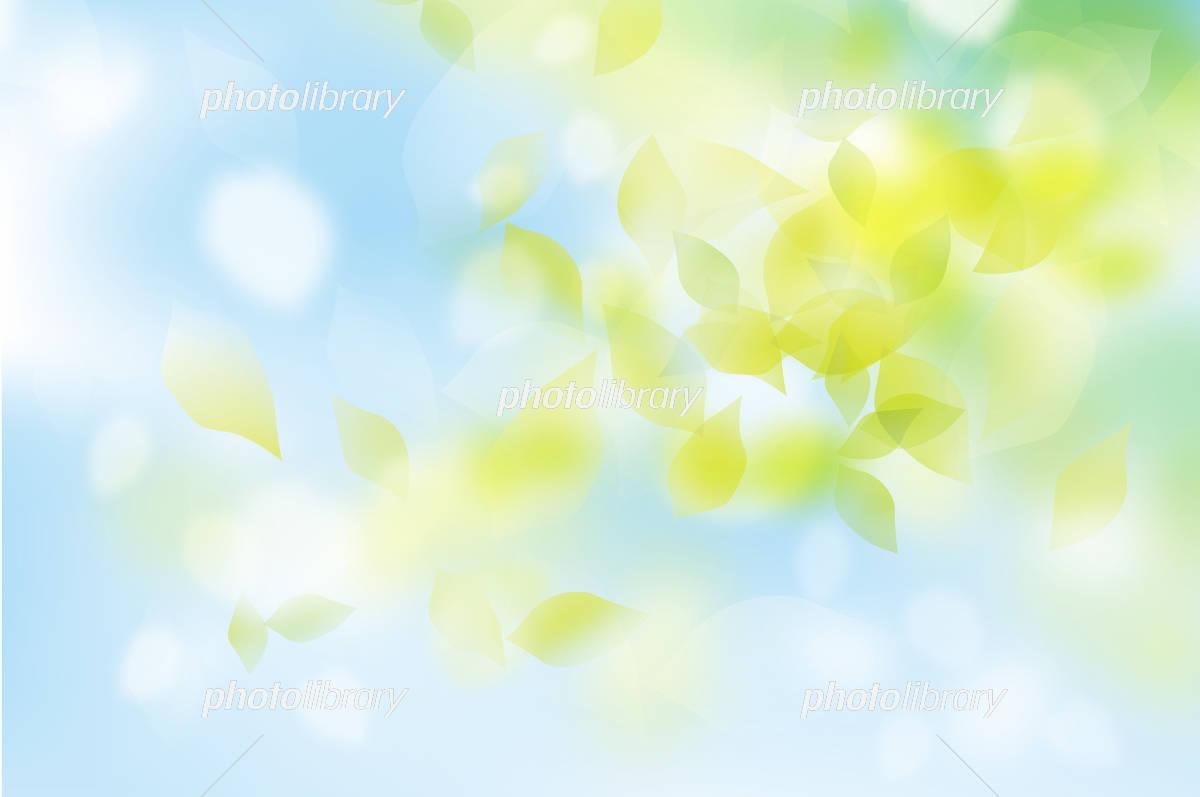 Fresh green fluffy blue イラスト素材