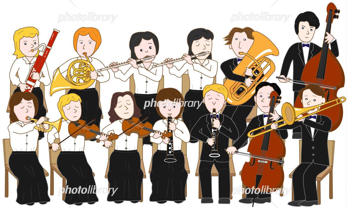 オーケストラのコンサート イラスト素材 4278126 フォトライブ