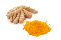 Powder and turmeric white back Stock photo [4277589] Turmeric