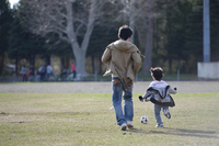 Football in parent and child Stock photo [4278776] Parent