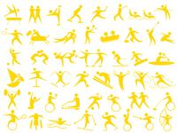 Sports icon [4279820] motion