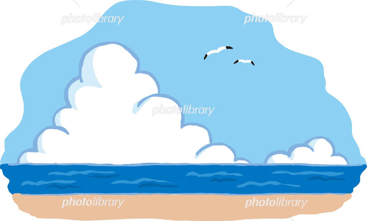 夏の海 背景イラスト イラスト素材 4361720 無料 フォトライブ