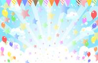 Sky star balloon flag [4356665] Star