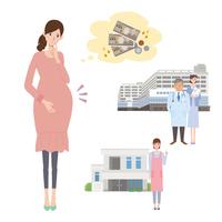 Pregnant women birth worries Pregnant