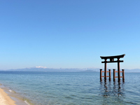 Torii in the Shirahige shrine Lake Biwa Stock photo [4364581] Shirahige