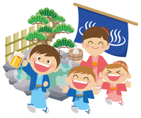 Family hot spring [4433982] Hot