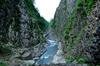 新潟県十日町 清津峡渓谷トンネルからの清津峡