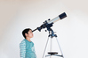 Elementary school students to astronomical observation by telescope ID:4437808