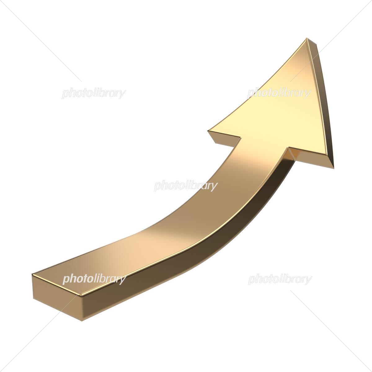 ゴールドの急上昇の矢印 イラス...