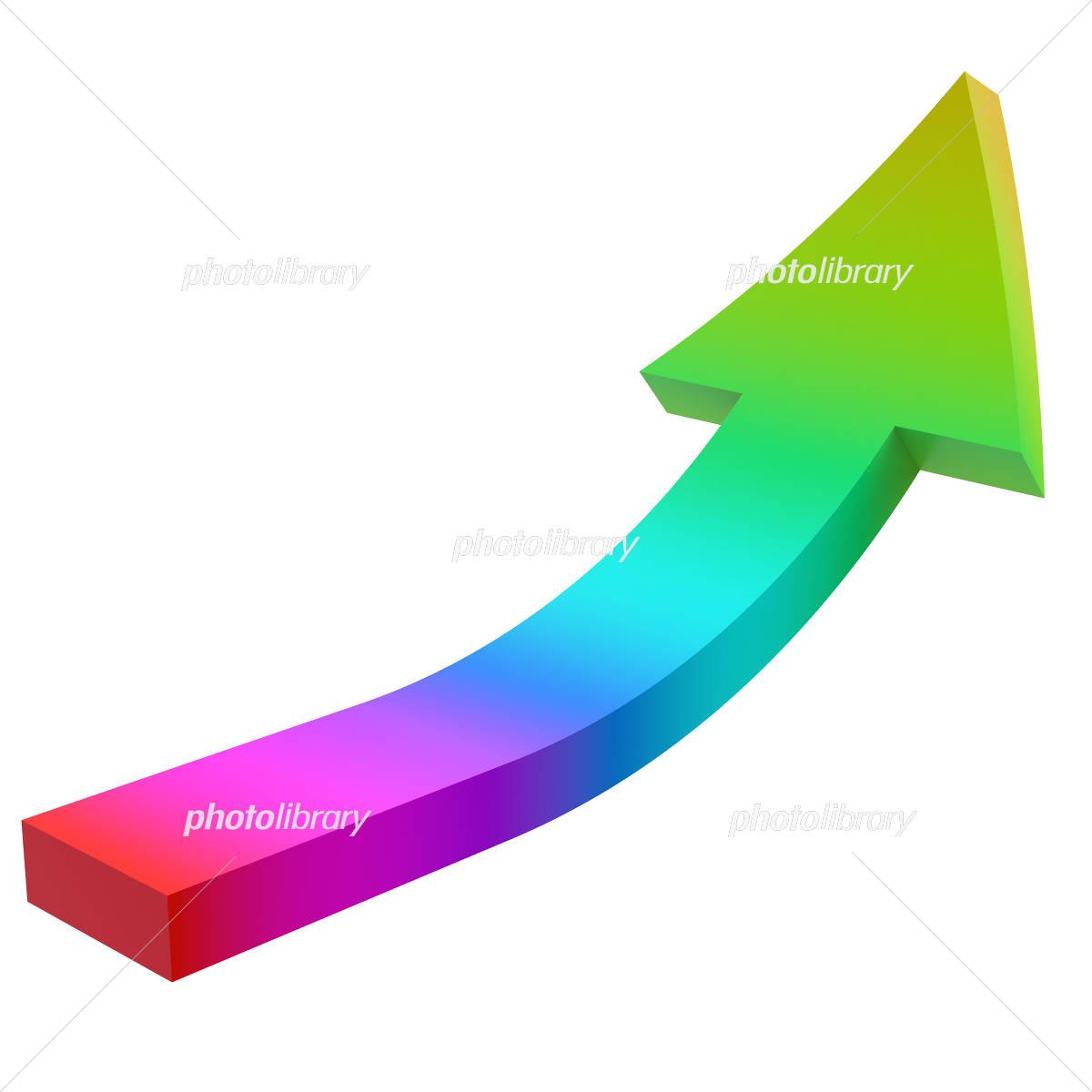 右肩上がりの虹色の矢印 イラスト素材 4527680 フォトライブラリー