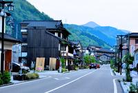 Dusk of Yamanaka Onsen Yuge highway Stock photo [4517605] Yamanaka