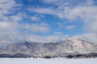 It yahikoyama want from Niigata Plain of winter sunny and Tahosan Stock photo [4526203] Yahikoyama