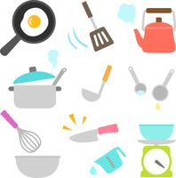 Icon set of cooking utensils [4528232] cooking