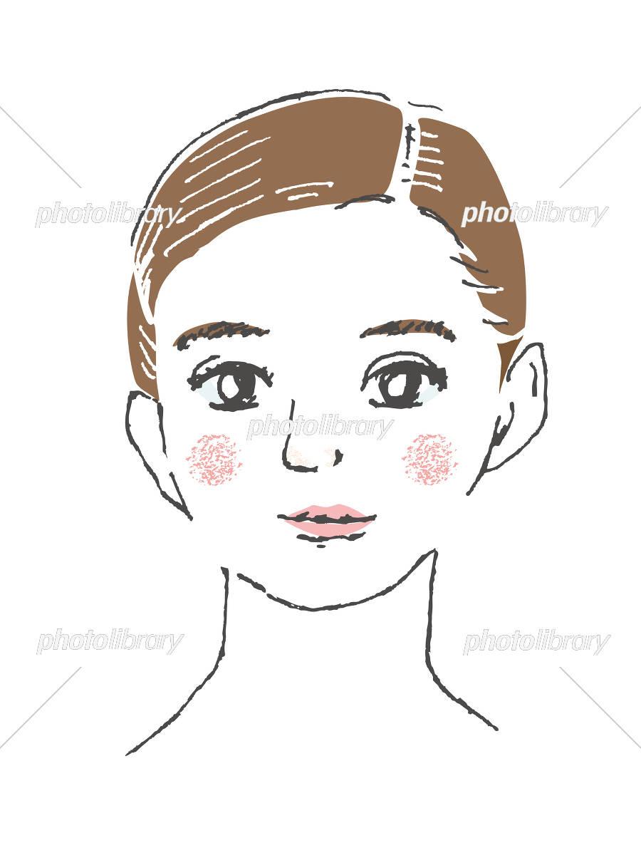 女性の顔 アップ イラスト素材 4656971 フォトライブラリー