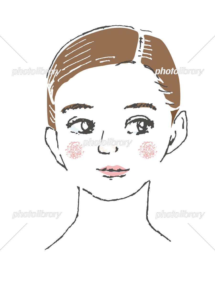 女性の顔 アップ イラスト素材 4656973 フォトライブラリー
