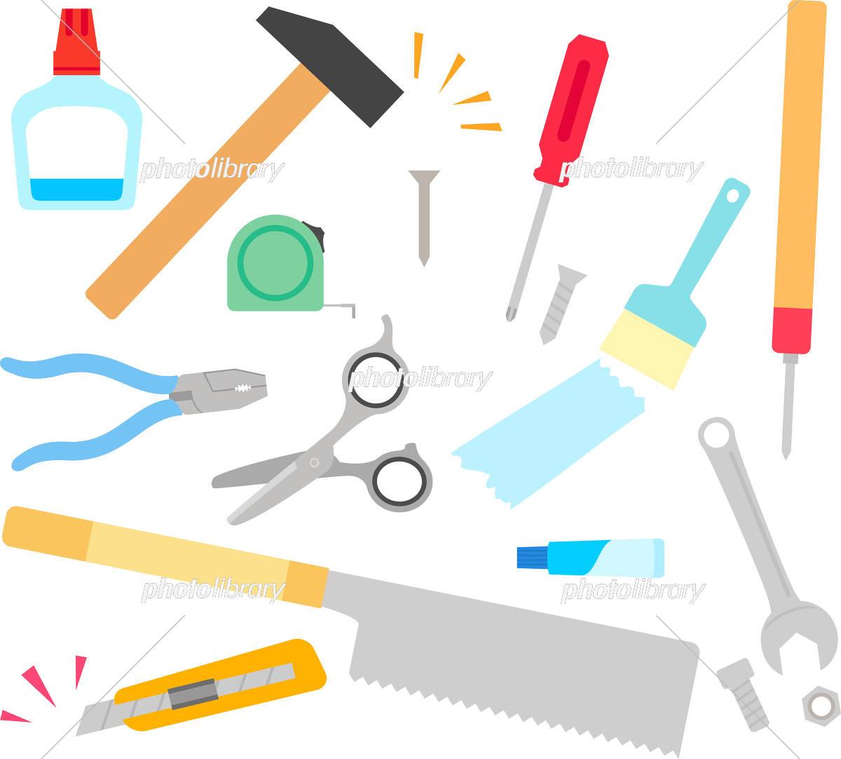 Diy日曜大工の道具のイラストセット イラスト素材 4662416