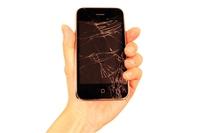 Smartphones cracking of the screen Stock photo [4657195] smartphone