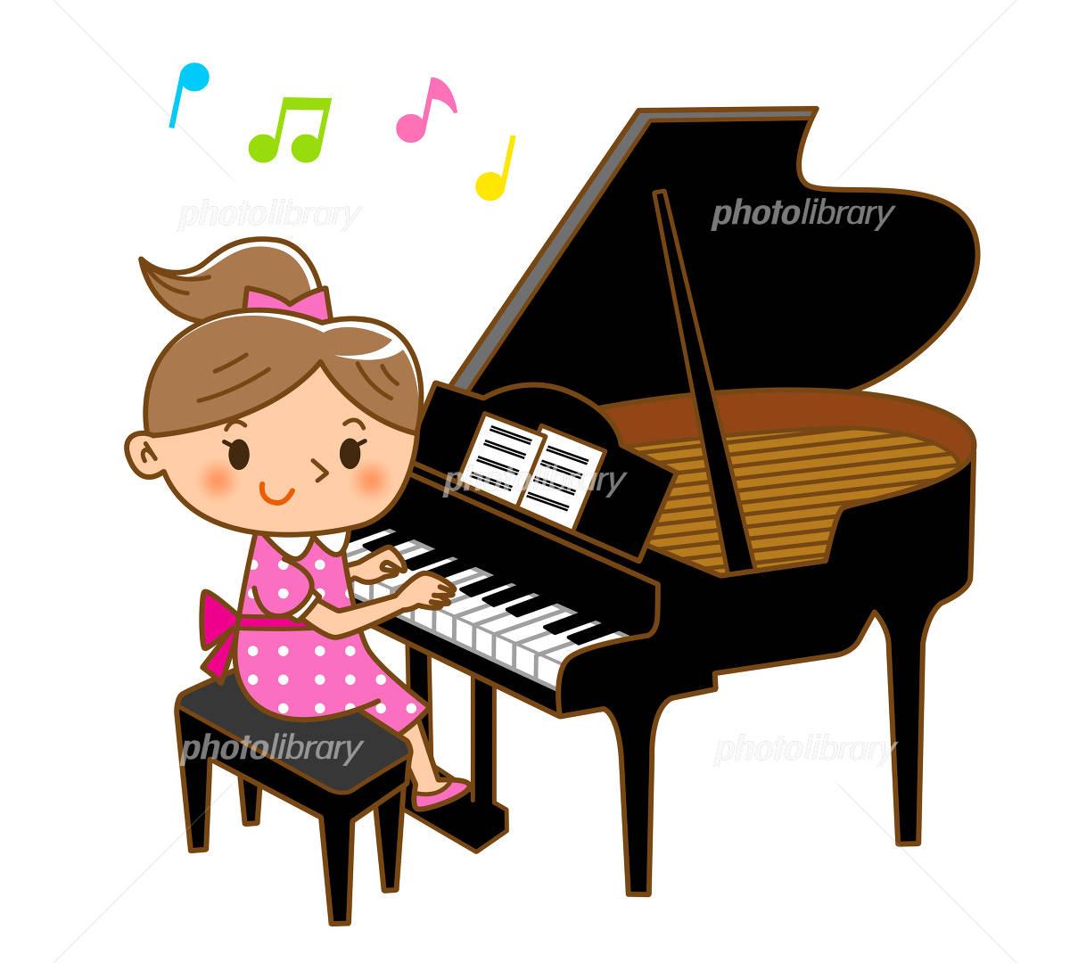 ピアノ演奏 イラスト素材 4721292 フォトライブラリー Photolibrary