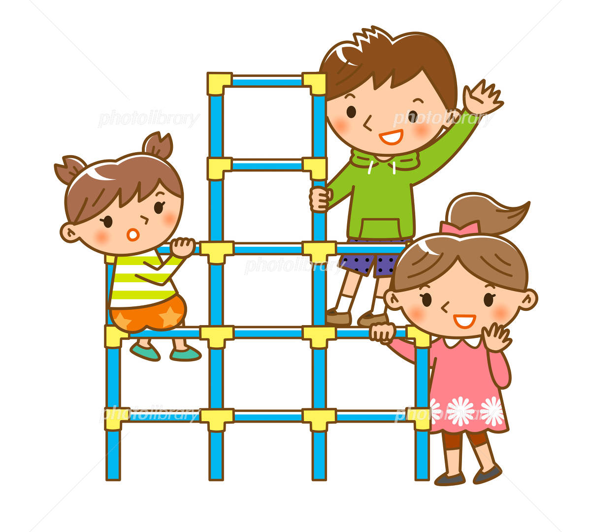 ジャングルジムで遊ぶ子供 イラスト素材 4727813 フォト