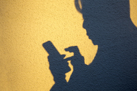 Shadow to operate the smart phone Stock photo [4722443] smartphone