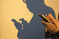 Shadow to operate the smart phone Stock photo [4722445] smartphone