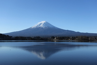 Fuji from Lake Kawaguchi Stock photo [4805367] Upside
