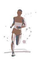 Marathon runner [4805845] marathon