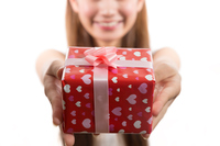 Young woman to pass the gift Stock photo [4809982] Present