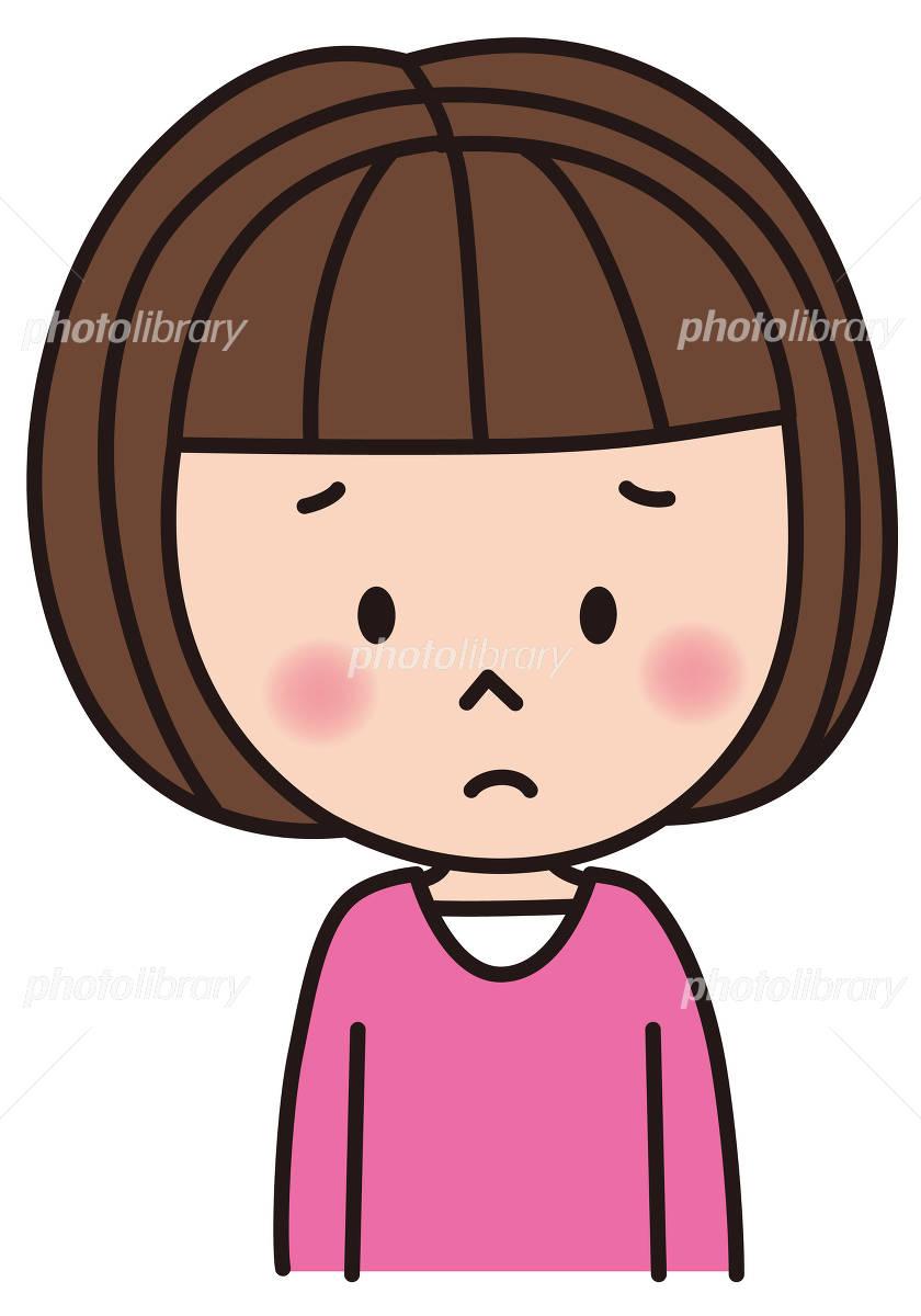 女の子 子供 表情 残念 ガッカリ 悲しい イラスト素材 4914702