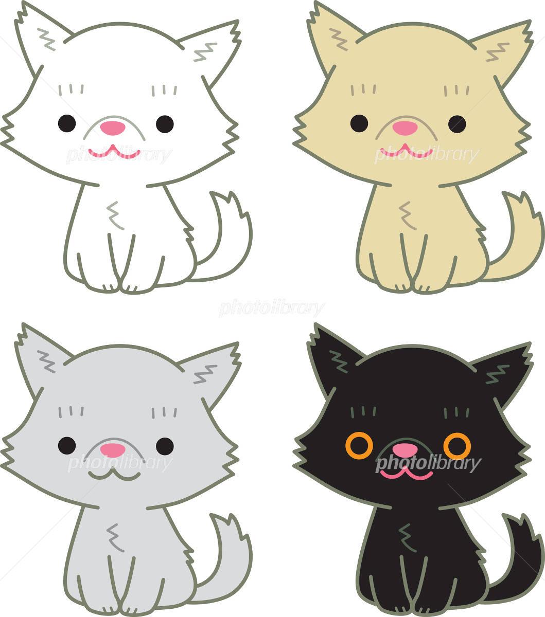 ペルシャ猫 セット イラスト素材 [ 4914768 ] , フォトライブ