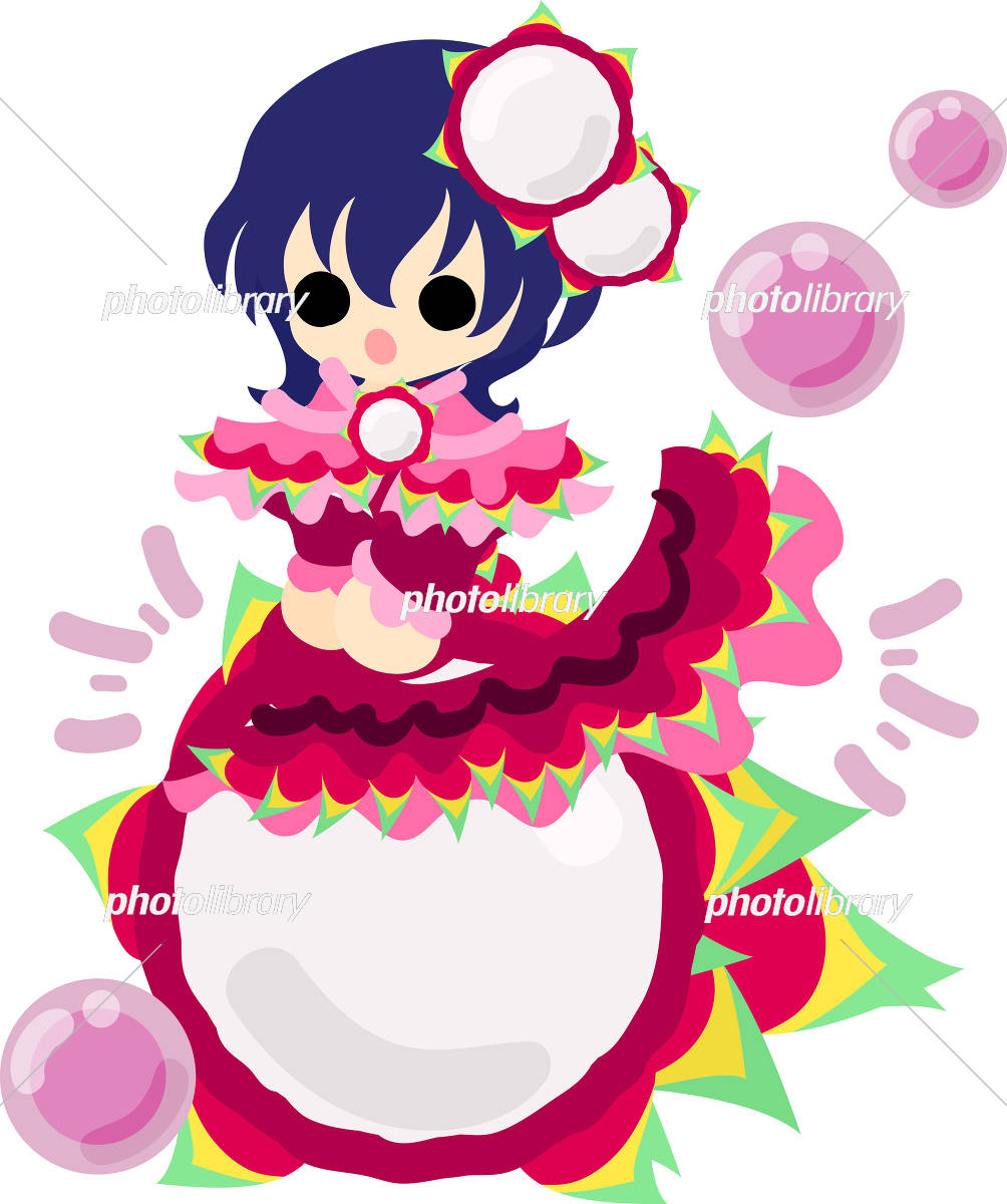 おしゃれなフルーツドレスの女の子 イラスト素材 [ 5017094