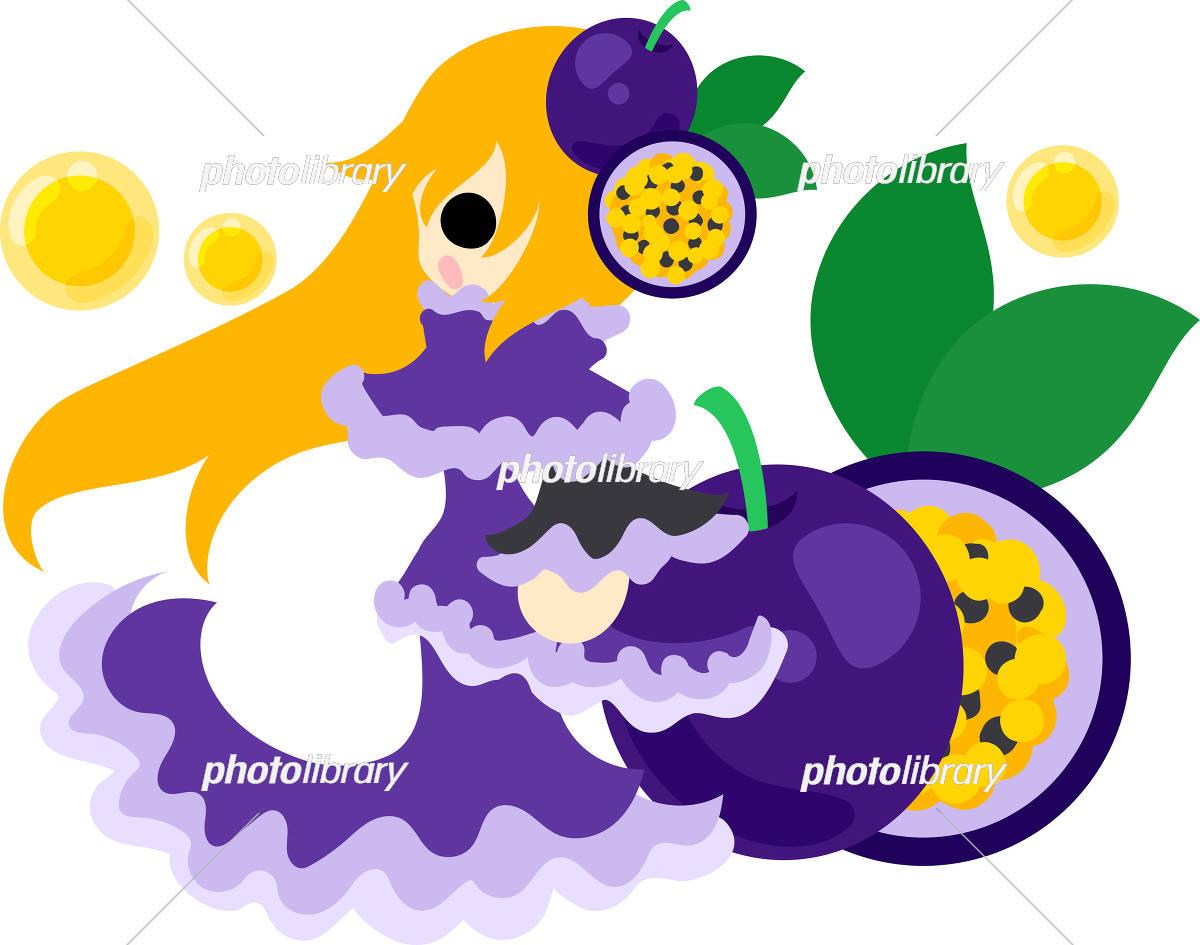 おしゃれなフルーツドレスの女の子 イラスト素材 [ 5017101