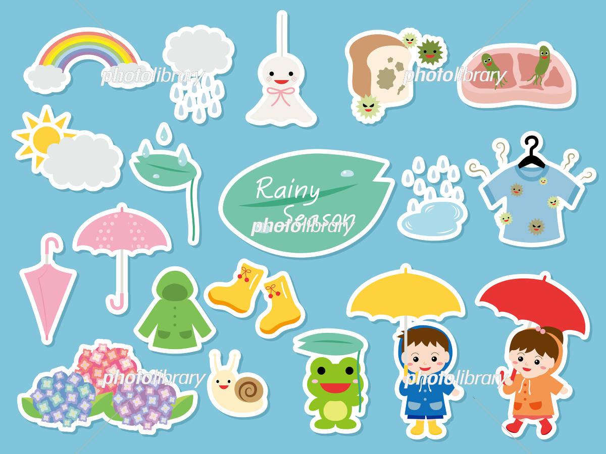 梅雨 イラストセット イラスト素材 5018848 フォトライブラリー