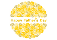 Happy Father's Day 父の日 バラの花 黄色 父の日